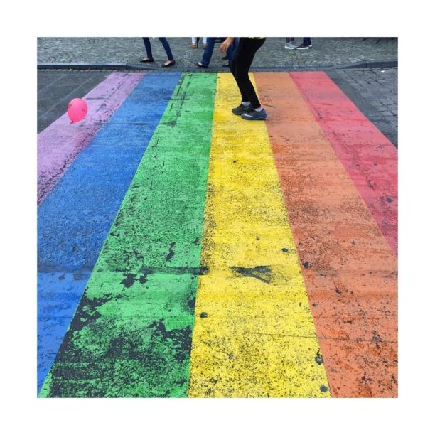 #daytrip and #gaytrip to #maastricht with @mr.vn #roadtrip #europe #netherlands #germany #rainbow #crosswalk
